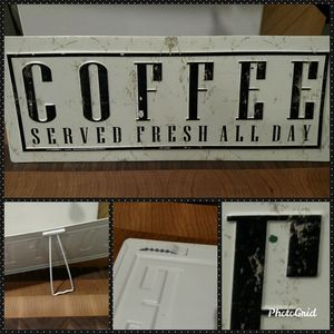 🎀☕Coffee Served Fresh All Day Plaque ☕🎀